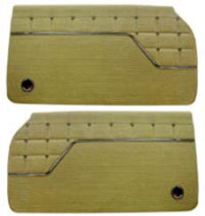 1962 DOOR PANELS, FRONT/REAR, 4 DR HT, IMPALA, GOLD