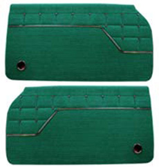 1962 DOOR PANELS, FRONT/REAR, 4 DR HT, IMPALA, GREEN