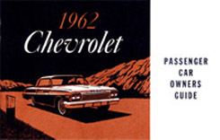 1962 OWNERS MANUAL (ea)