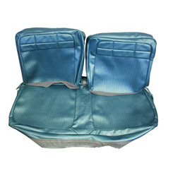 1962 SEAT COVER, FRONT, VINYL BENCH, REPLACEMENT, IMPALA, AQUA