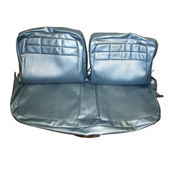 1962 SEAT COVER, FRONT, VINYL, REPLACEMENT, BENCH, IMPALA,BLUE