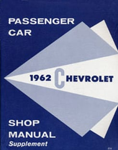 1962 SHOP MANUAL SUPPLEMENT (ea)