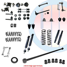 1963-64 COMPLETE SUSPENSION KIT, SMALL BLOCK, SINGLE UPPER