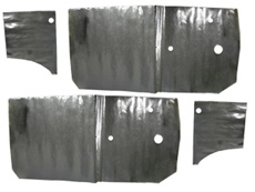 1963-64 DOOR PANEL WATER SHIELDS, 2DR