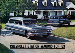 1963 COLOR SALES BROCHURE WAGON (ea)