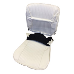1964 SEAT COVER, FRONT, VINYL BUCKET, IMPALA, SS, WHITE/BLACK