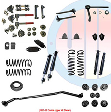 1965-66 COMPLETE SUSPENSION KIT, BIG BLOCK, DOUBLE UPPER