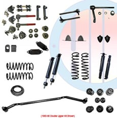 1965-66 COMPLETE SUSPENSION KIT, SMALL BLOCK, DOUBLE UPPER