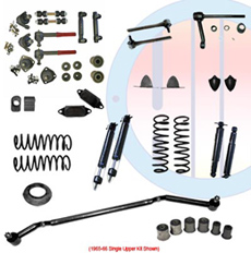 1965-66 COMPLETE SUSPENSION KIT, BIG BLOCK, SINGLE UPPER