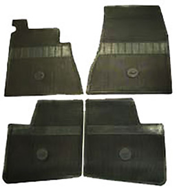 1965-66 ORIGINAL FLOOR MATS, BLACK
