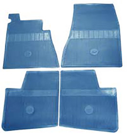 1965-66 ORIGINAL FLOOR MATS, BLUE