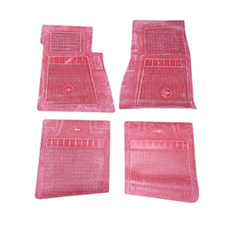 1965-66 ORIGINAL FLOOR MATS, RED