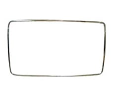 1965-1966 EXTERIOR REAR GLASS MOULDING, 2 DR HT