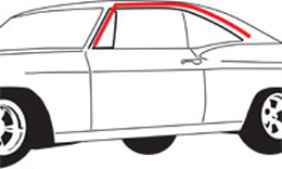 1965-66 Impala Deville Lesabre 4 Door Hardtop Quarter Window Weatherstrip
