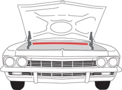 1965-67 HOOD TO COWL SEAL (ea)