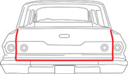 1965-68 TAILGATE WEATHERSTRIP with MOLDED ENDS WAGON