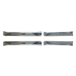 1965-70 DOOR SILL PLATES, 4 DR W/SCREWS
