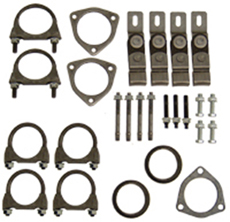 "1965-70 EXHAUST INSTALLATION HANGERS/CLAMPS KIT DUAL EXHAUST 2.5""LEAD PIPES (set)"