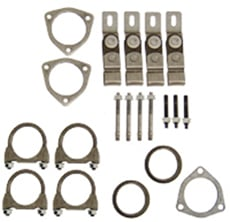 "1965-70 EXHAUST INSTALLATION HANGERS/CLAMPS KIT DUAL EXHAUST 2""LEAD PIPES (set)"