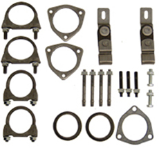 "1965-70 EXHAUST INSTALLATION HANGERS/CLAMPS KIT SINGLE EXHAUST 2""LEAD PIPES (set)et)"
