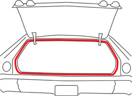 1965-76 TRUNK WEATHERSTRIP