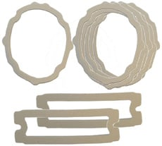 1965 PARKING/TAIL LIGHT LENS GASKETS