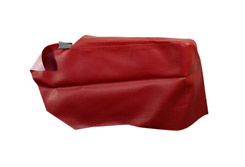 1965 REAR ARM REST COVERS, 2DR HT, IMPALA, RED