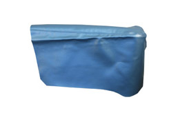 1965 REAR ARM REST COVER, 2DR HT, IMPALA,SS, BLUE