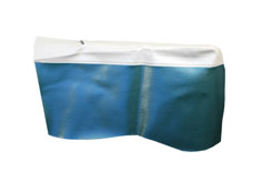 1965 REAR ARM REST COVERS, 2DR HT, IMPALA, SS, WHITE/AQUA
