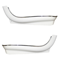 1966-67 BUCKET SEAT TRIM SKIRT LOWER BOTTOM WHITE (DOES ONE SEAT)