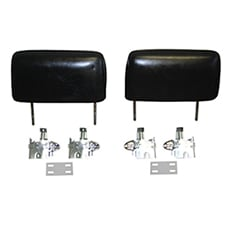 1966-67 HEAD REST KIT, BLACK, (INCLUDES HEAD REST AND MOUNTING KIT FOR BOTH SEATS. BUCKET SEATS