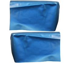 1966-67 REAR ARM REST COVERS, CONV, IMPALA, BRIGHT BLUE