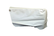 1966-67 REAR ARM REST COVERS, 2DR HT,IMPALA, OFF- WHITE