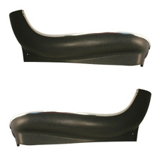1966-69 BUCKET SEAT TRIM SKIRT LOWER BOTTOM BLACK (DOES ONE SEAT)