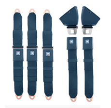 1966-76 SEAT BELTS FRONT AND REAR, BLUE