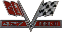 1966 FENDER EMBLEM, 427 TURBO- JET FLAG