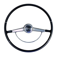 1966 STEERING WHEEL KIT, BLACK (ea)(horn ring, cap, & contacts) (comes primered, needs to be painted)