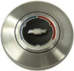 1966 HORN BUTTON, WOOD WHEEL (ea)