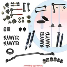1967-68 COMPLETE SUSPENSION KIT, BIG BLOCK, SINGLE UPPER