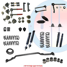 1967-68 COMPLETE SUSPENSION KIT, SMALL BLOCK, SINGLE UPPER