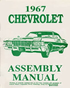 1967 ASSEMBLY MANUAL (ea)