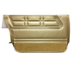 1967 DOOR PANELS, FRONT, 4 DR WAGON & SEDAN, GOLD