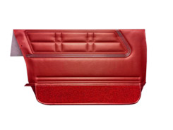 1967 DOOR PANELS, FRONT, 4 DR WAGON & SEDAN, RED