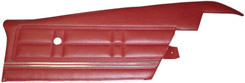 1967 DOOR PANELS, REAR, PRE ASSY, 2 DR HT, IMPALA,RED