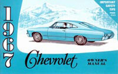 1967 OWNERS MANUAL (ea)