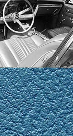 1967 SEAT COVER, FRONT, VINYL BENCH, IMPALA, BRIGHT BLUE