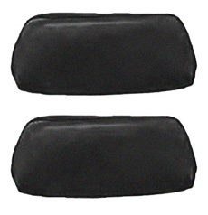 1968-69 HEADREST COVERS, BUCKET, BLACK