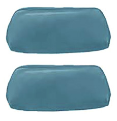 1968-69 HEADREST COVERS, BUCKET, 68 BLUE