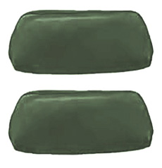 1968-69 HEADREST COVERS, BUCKET, DARK GREEN