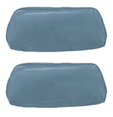 1968-69 HEADREST COVERS, BUCKET, LIGHT BLUE